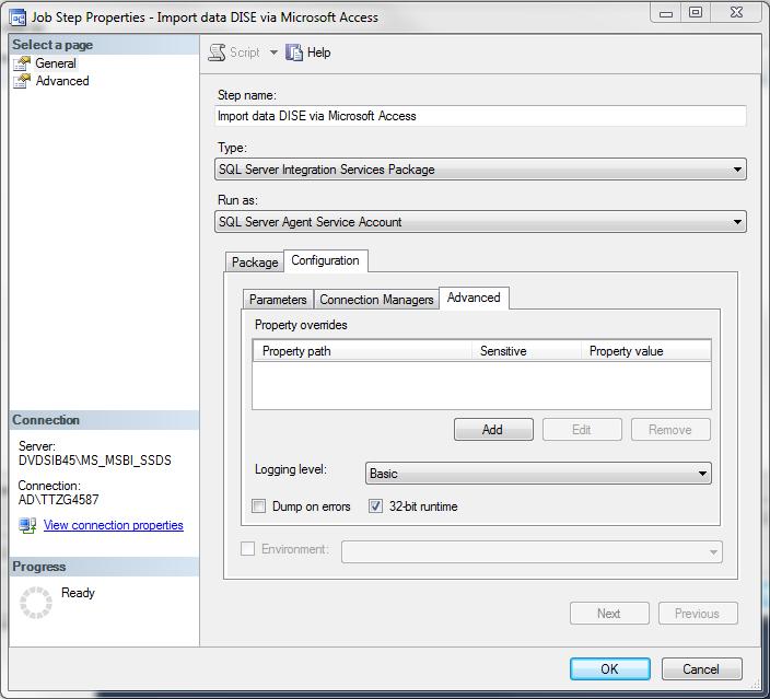 SSIS execution result in SQL Server