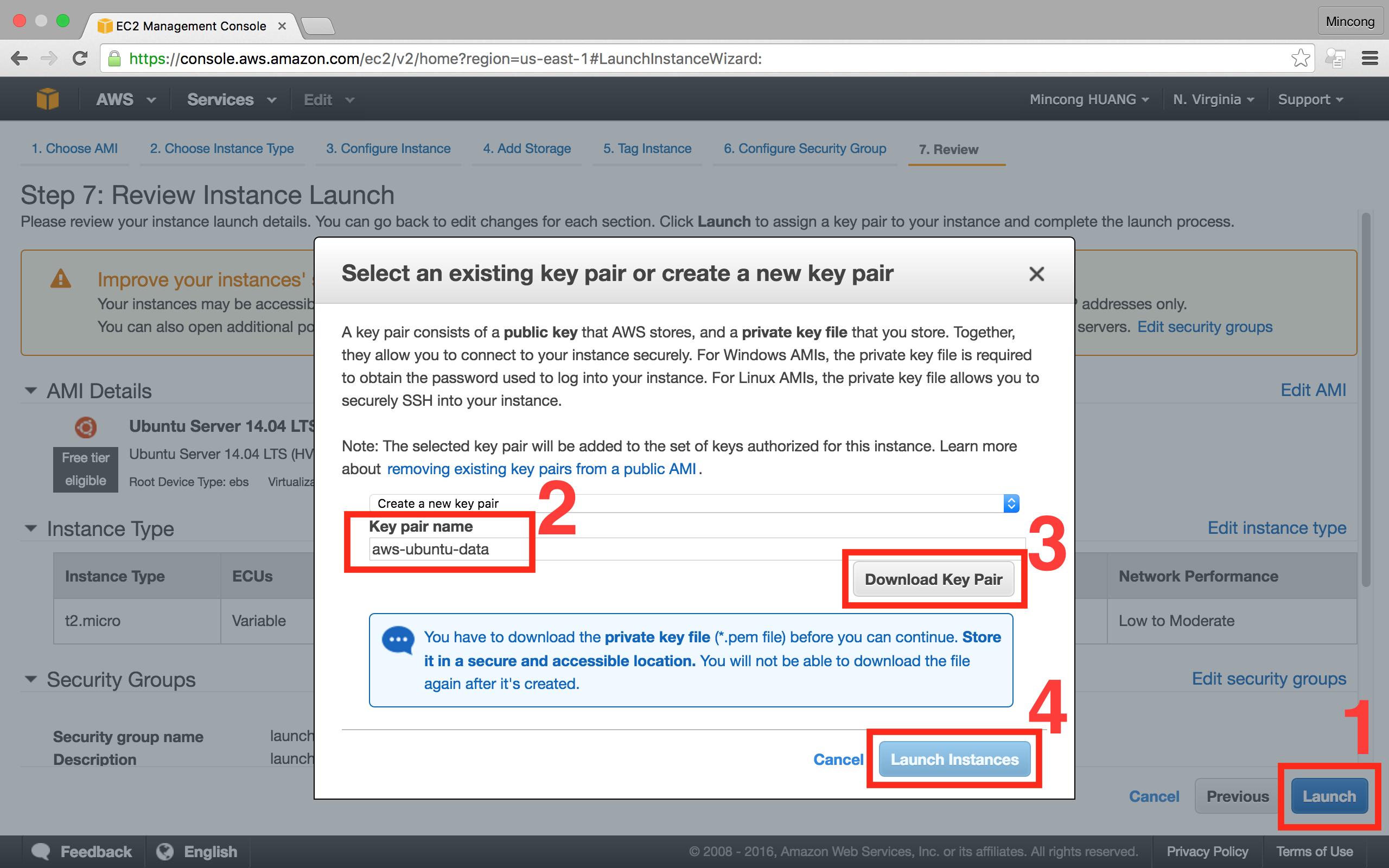 AWS console EC2, create instance step 7b