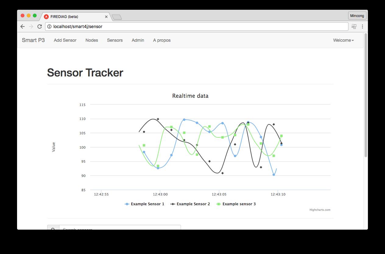Smart P3 - Web UI / sensor