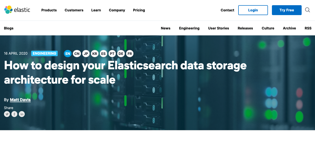 Elasticsearch blog i18n