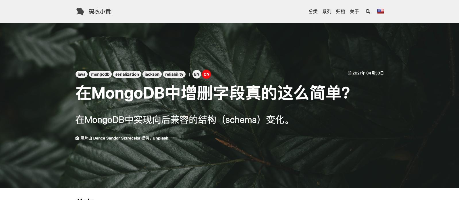 中文文章页面示例